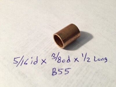 Oilite Bushing Bronze 516 Id X 38 Od X 12 Bearing Bush Sleeve Spacer New B55