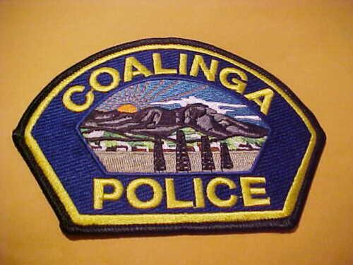 COALINGA CALIFORNIA POLICE PATCH SHOULDER SIZE UNUSED TYPE 2