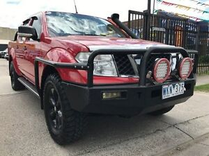 2008 Nissan Navara ST-X Red 6 Speed Manual Dual Cab Williamstown North Hobsons Bay Area Preview