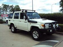2010 Toyota Landcruiser VDJ76R MY10 GXL White 5 Speed Manual Wagon Acacia Ridge Brisbane South West Preview