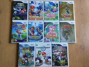 Wii Mario Galaxy-Zelda-Kart-Kirby-Smashbros- prix divers