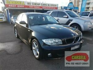 2006 BMW 120i E87 Black 6 Speed Automatic Hatchback Campbelltown Campbelltown Area Preview