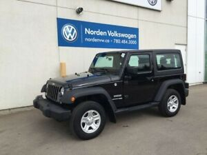2018 Jeep Wrangler JK SPORT 4WD - 6SPD MANUAL -PWR PKG
