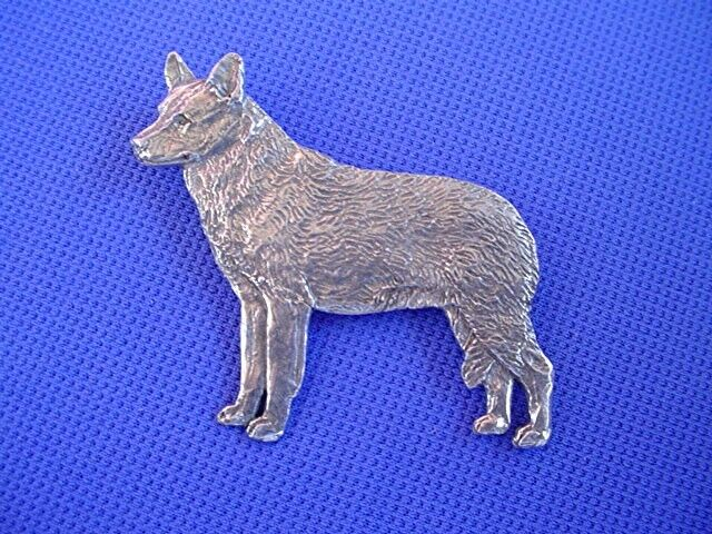 Australian Cattle Dog pin #86A Pewter Dog Jewelry by Cindy A. Conter