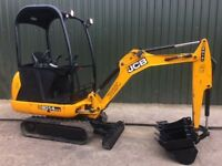 JCB 8014, YEAR 2014, 911 HOURS, 3 BUCKETS, MINI DIGGER EXCAVATOR.