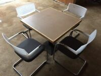 800 square melamine top cafe table