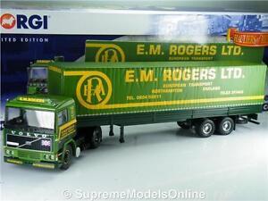 VOLVO F10 EM ROGERS TILT TRAILER CC15504 CORGI MODERN TRUCK NORTHAMPTON K8967Q#~