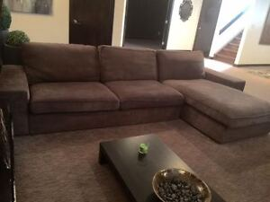 Sofa + Chaise   great condition   moving sale