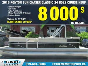 2016 SUN CHASER PONTON CLASSIC 24  8522 CRS 22 23 pieds 58,71$/S