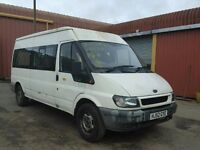 FORD TRANSIT 90 T350 2.4 DIESEL, 9 SEATER MINIBUS EDITION, 5 SPEED MANUAL, STARTS & DRIVES, BARGAIN