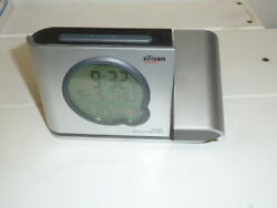SILICON SCIENTIFIC Bedroom Table Atomic Projection Clock Alarm Snooze Date