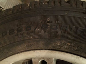 Goodyear snow tires 225/60/16 ---- 225 60 16 with universal rims London Ontario image 3