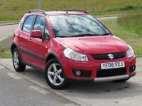 SUZUKI SX4 1.6 GLX 5d 106 BHP 6 Months RAC Warranty (red) 2008