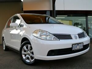 2009 Nissan Tiida C11 MY07 ST-L White 4 Speed Automatic Sedan Fawkner Moreland Area Preview
