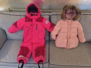 Baby/Toddler girl snowsuit and jacket