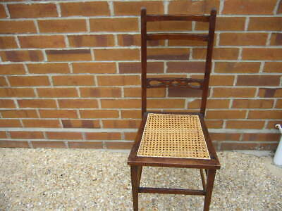 ANTIQUE VICTORIAN MAHOGANY CANED CHAIR