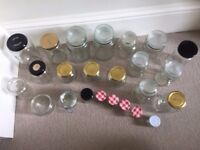 7 storage jars and 20 Jam Jars. collect from Fulham
