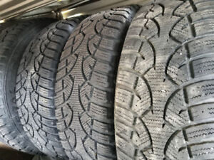 4 225/65/17 directional snow tires and rims