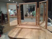 3 window dressing table mirror.