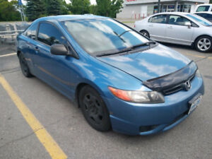 Honda Civic Coupe with Remote Start, Winter Tires, No Accidents