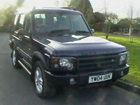 04 REG LAND ROVER DISCOVERY 2.5 TD5 DIESEL ES 7 SEAT 4X4 5 DOOR ESTATE HPI CLEAR
