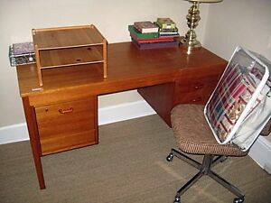Teak Desk with Chair