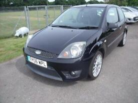 FORD FIESTA ZETEC S 16V Black Manual Petrol, 2006