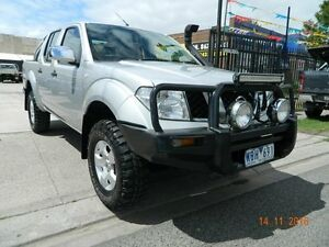 2007 Nissan Navara D40 ST-X Silver 6 Speed Manual Dual Cab Williamstown North Hobsons Bay Area Preview