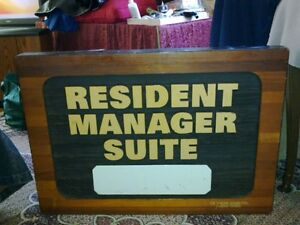 RESIDENT MANAGER SIGNAGE- by DeJager