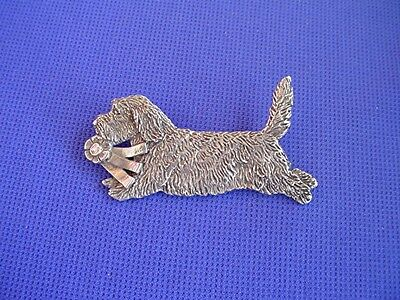 Petit Basset Griffon Vendeen Pewter Pin #91D Pewter jewelry by Cindy A. Conter