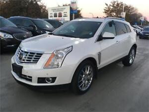 2014 Cadillac SRX 4 Premium All Wheel Drive white low km's