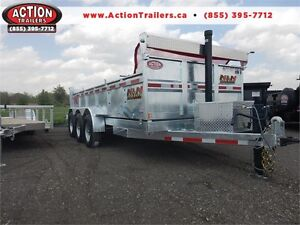TRI-AXLE GALVANIZED DUMP TRAILER - HEAVY DUTY AND BUILT TO LAST