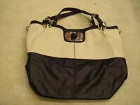 karen millen large real leather handbag in excellent condition