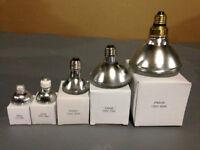 grand stock de diverses ampoules halogènes neuves