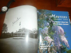 2003 Masters Golf Tournament Journal autographed by Mike Weir Oakville / Halton Region Toronto (GTA) image 2