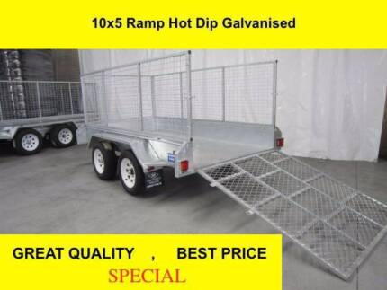 10x5 RAMP FULLY HOT DIP GALVANISED TRAILER