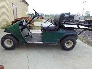 EZGO Gas Golf Cart, Runs Well, Tested Online, Excell Auctions