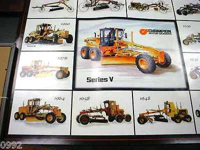 """Champion Motorgrader Dealer Wall Poster Excellent Condition, Very Nice, 22""""x28"""""""