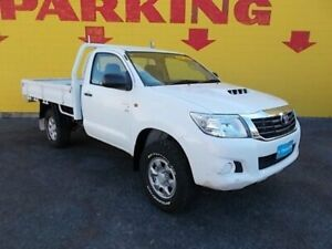 2013 Toyota Hilux KUN26R MY12 SR Double Cab White 5 Speed Manual Cab Chassis Winnellie Darwin City Preview