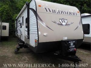 2014 FOREST RIVER WILDWOOD 30QBSS BUNK TRAILER FOR SALE*SLEEPS 9