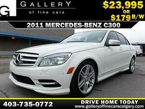 2011 Mercedes C300 4Matic $179 bi-weekly APPLY NOW DRIVE NOW