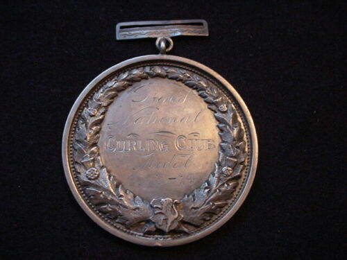 1873-74 Grand National Curling Club Point Medal To Thistle Club