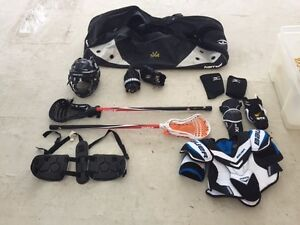 Full set of lacrosse gear used for one season two years ago