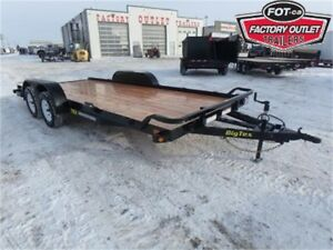 7 X 18 Car Hauler Trailer - 7,000# GVW - OUT THE DOOR PRICES!