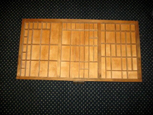 Vintage Hamilton Printer Type Set Drawer Tray Display Shadow Box 79 Spaces 32X16
