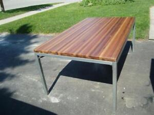 Crate and Barrel Table Solid Wood top.