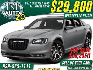 2017 CHRYSLER 300S AWD-HEATED LEATHER! WHOLESALE PRICE $29800!!