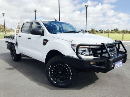 2012 Ford Ranger PX XL 2.2 (4x4) White 6 Speed Manual Crew C/Chas