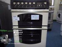 EX-DISPLAY CREAM/BLACK 60 WIDE HOTPOINT FREESTANDING COOKER REF: 13237