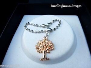 Rose Gold Tree Of Life Charm Ball Chain Keyring Key Ring Key Chain Lovely Gift